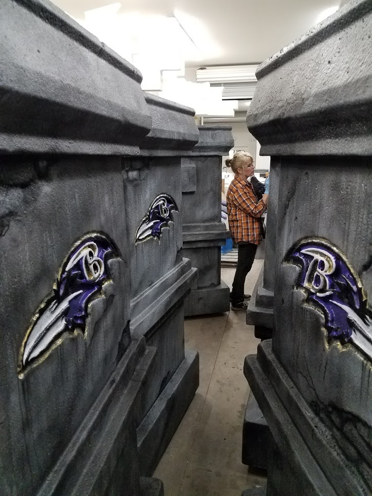 Painting the Ravens Columns