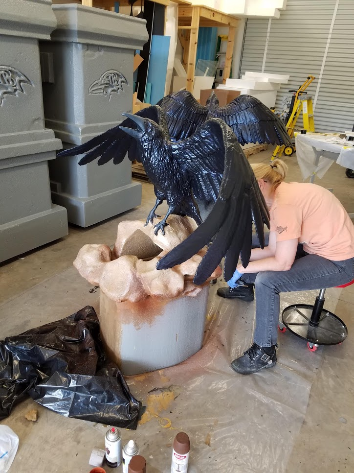 Painting Iridescent Raven Feathers
