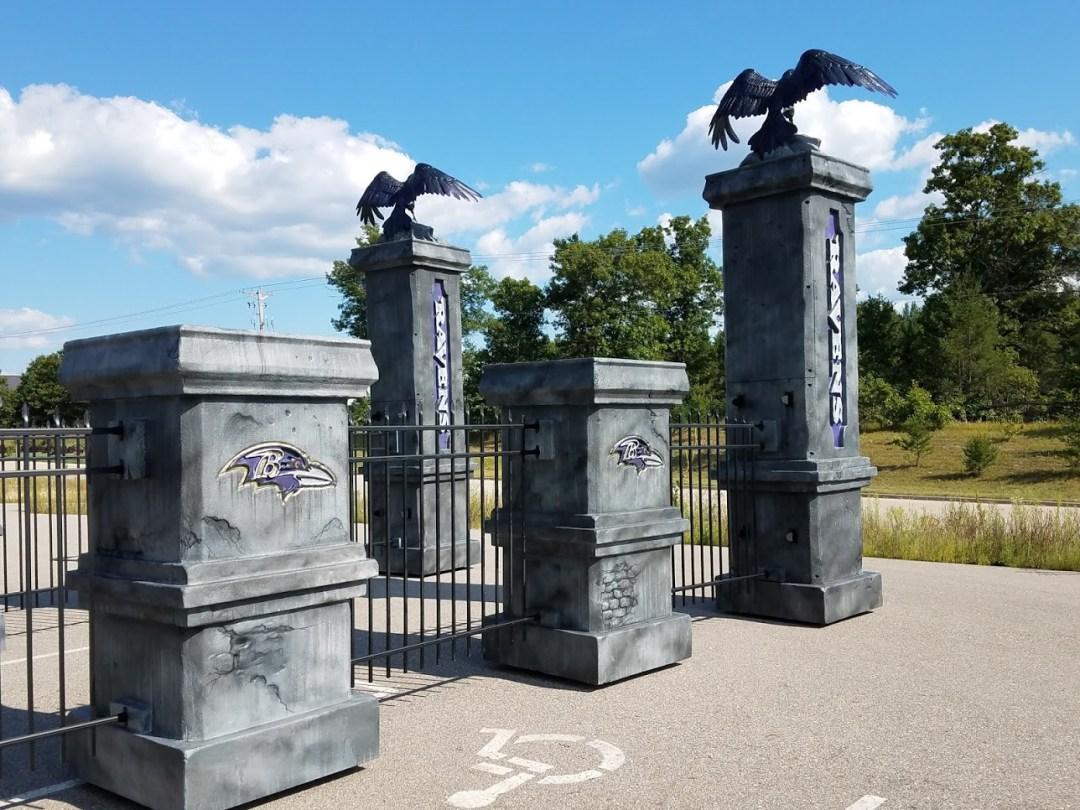 Foam Sculpting - NFL Team Intro Props - Baltimore Ravens