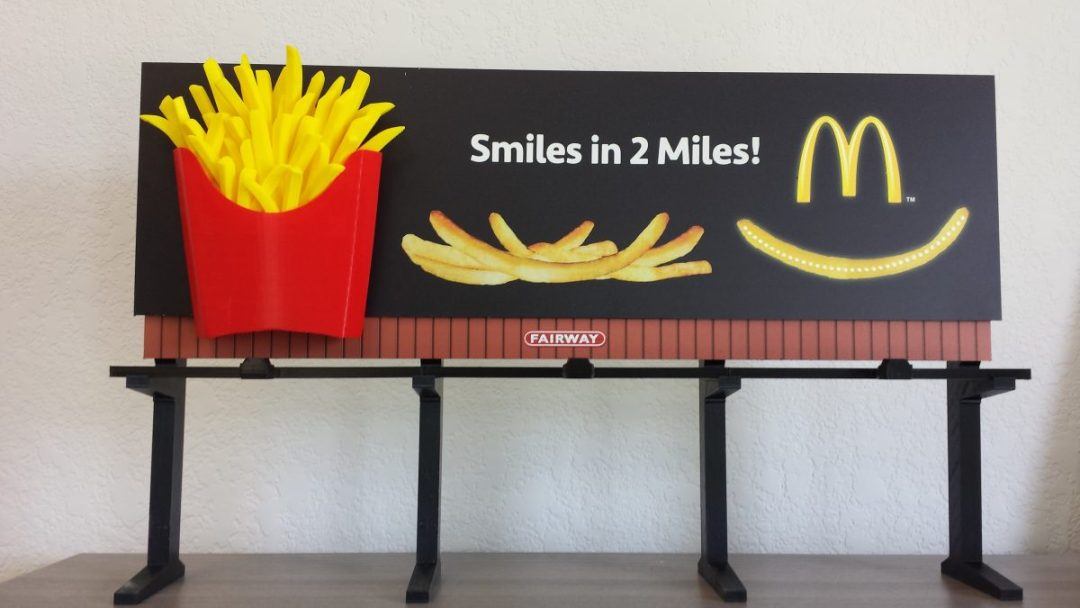 Model for Mc Donald's Fries Billboard