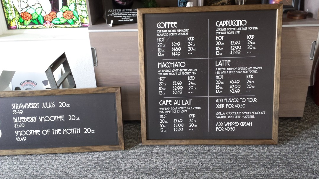 Union Grind Coffee Shop Magnetic Menu Board