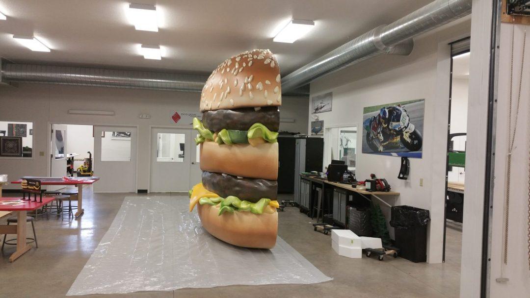 Foam Sculpting - 14' x 11' Big Mac Replica - Mc Donald's Billboard - Side View