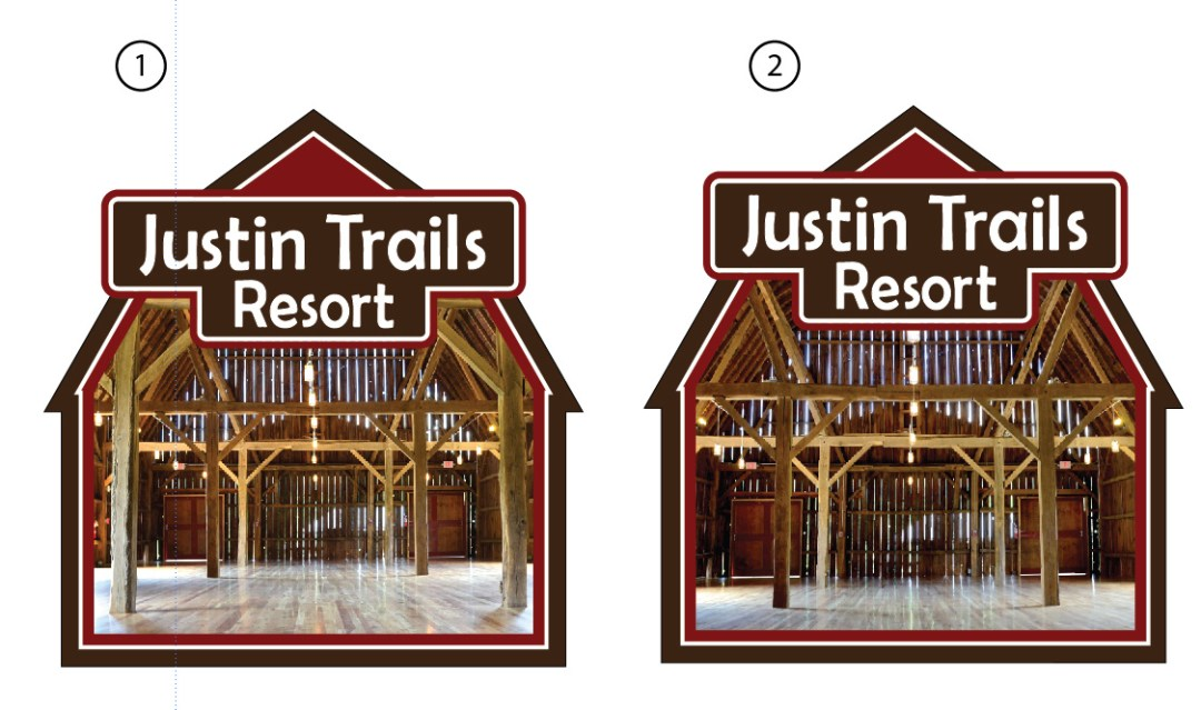 Logo Design - Barn Shaped Logo  Justin Trails