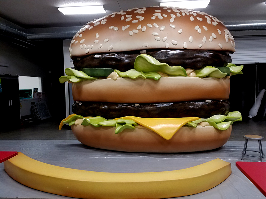 14' x 11' Big Mac Sculpted from Foam for a Billboard