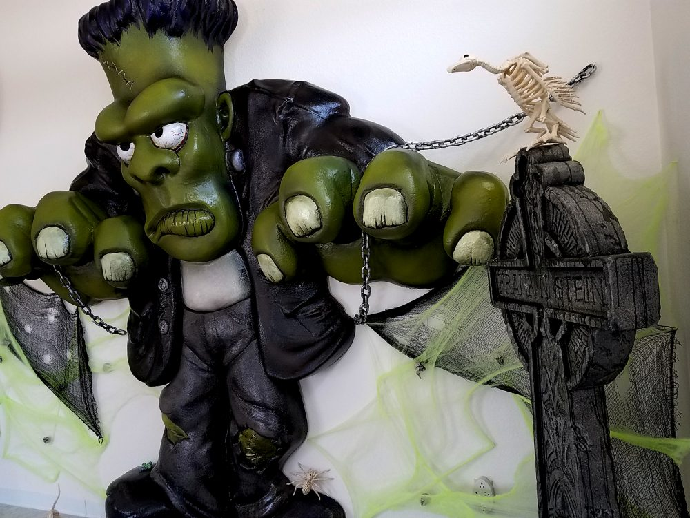 Themed Display - Halloween Decorations - Frankenstein