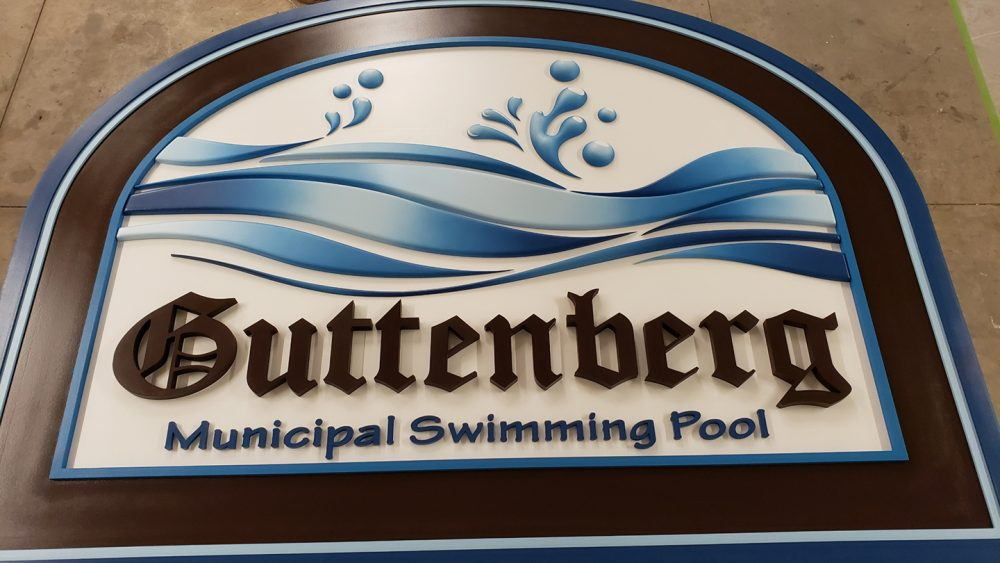 Custom Design Guttenberg Pool Sign