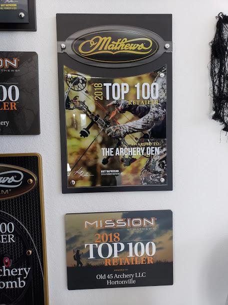 Custom Award Design - Mathews & Mission Top 100 Retailer Plaques