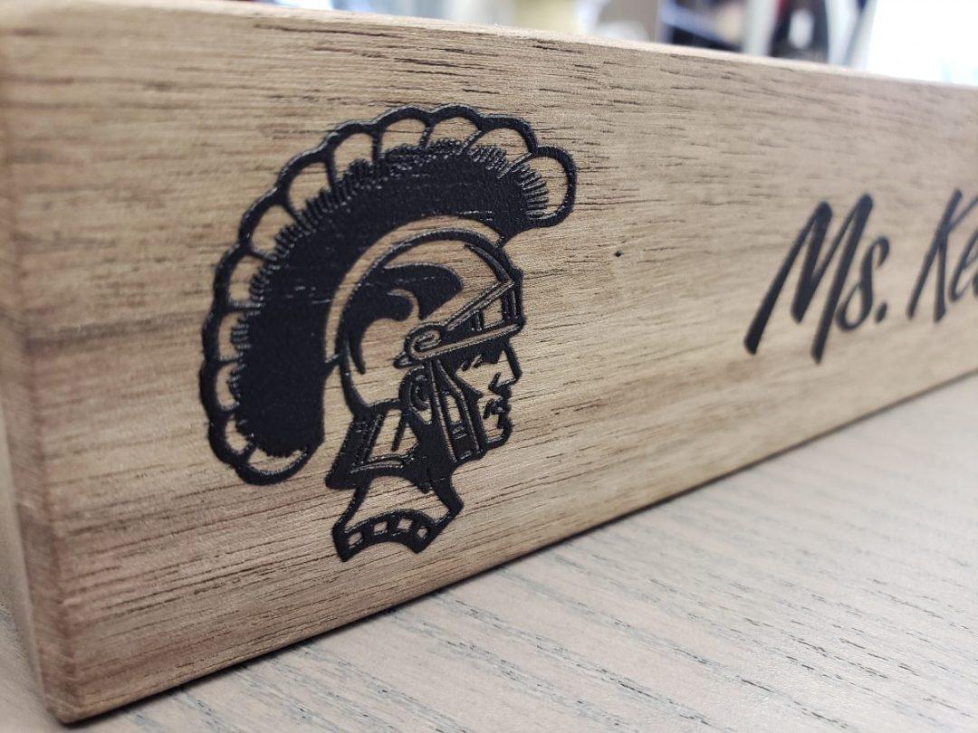 Key Club Teacher Desk Wood Name Plaque