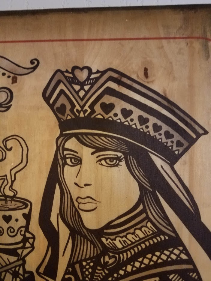 Wood Prints - Queen of Hearts