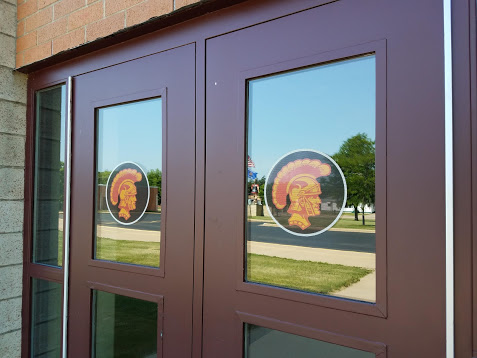 SHS Spartan Logo Perforated Window Graphics