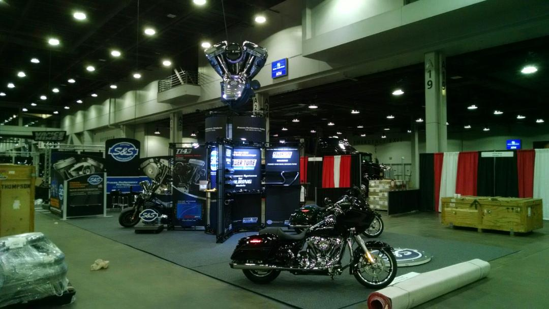 Trade Show Booth - 3-D Element - S&S Cycle -