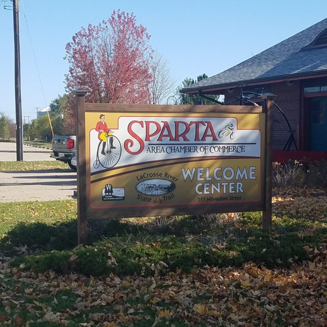 Sparta Chamber of Commerce Exterior Metal Sign