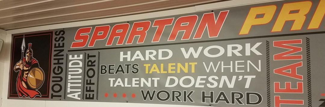 Sparta Grid Iron Club House Interior Decor  - Spartan Pride Banner