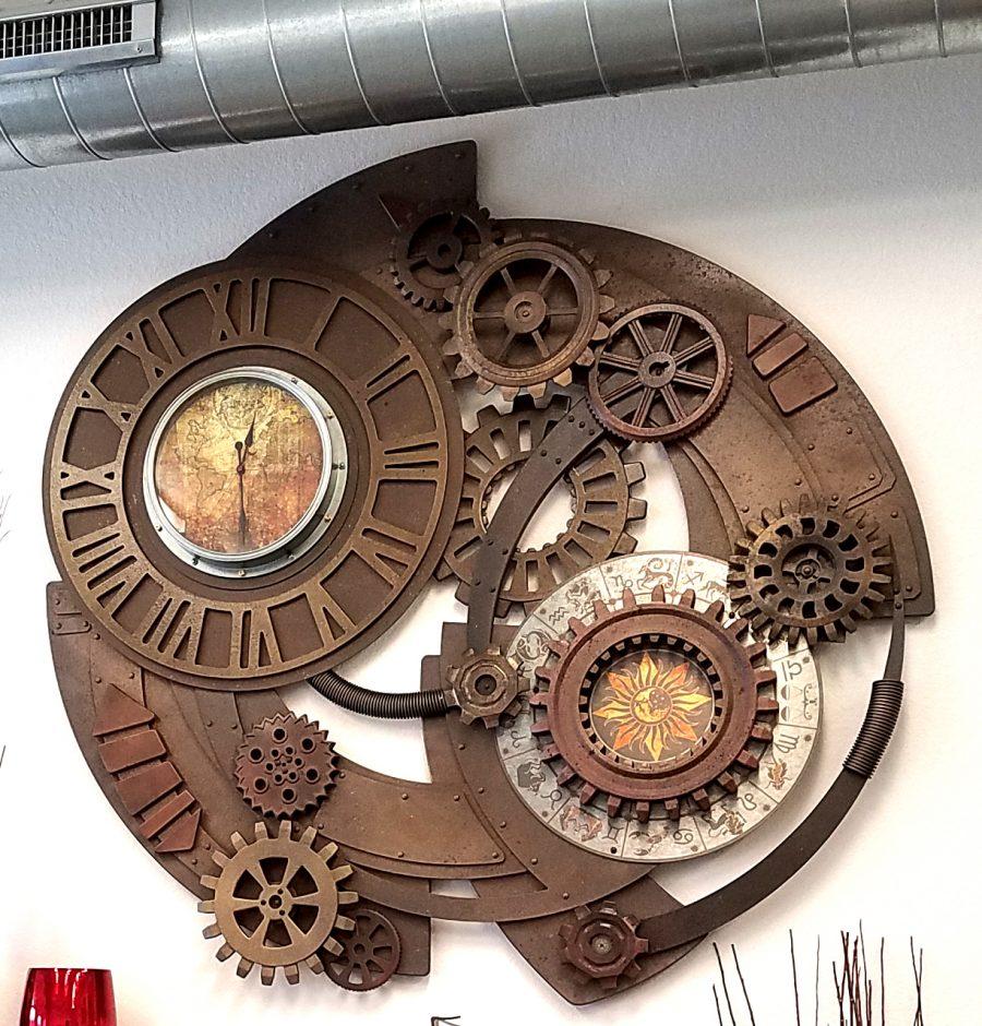 Foam Sculpting - 5' diameter Steam Punk Clock
