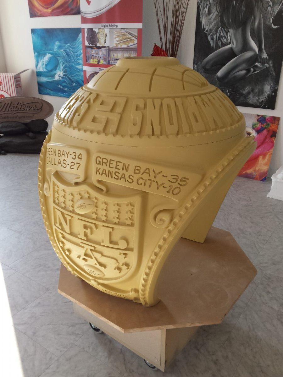 Foam Sculpting - Packers Superbowl Ring Model