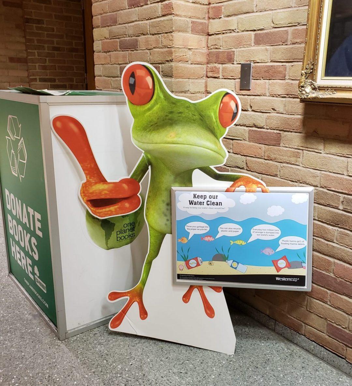WTC Frog Infinity Foam Board Standee with Dry Erase Board