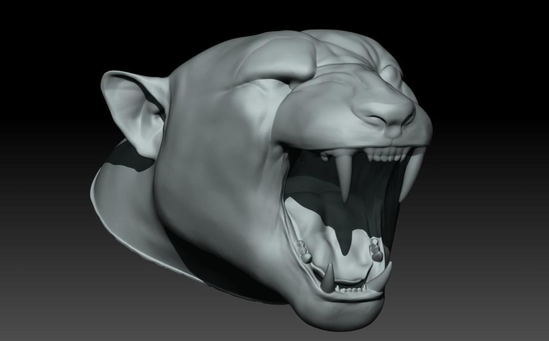 Foam Sculpting - 3D Rendering - NFL Team Intros - Jacksonville Jaguars