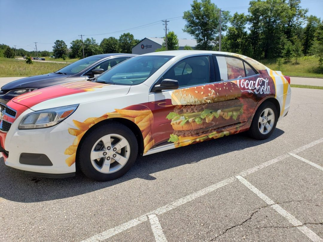 Mc Donald's Vehcile Wrap Side View