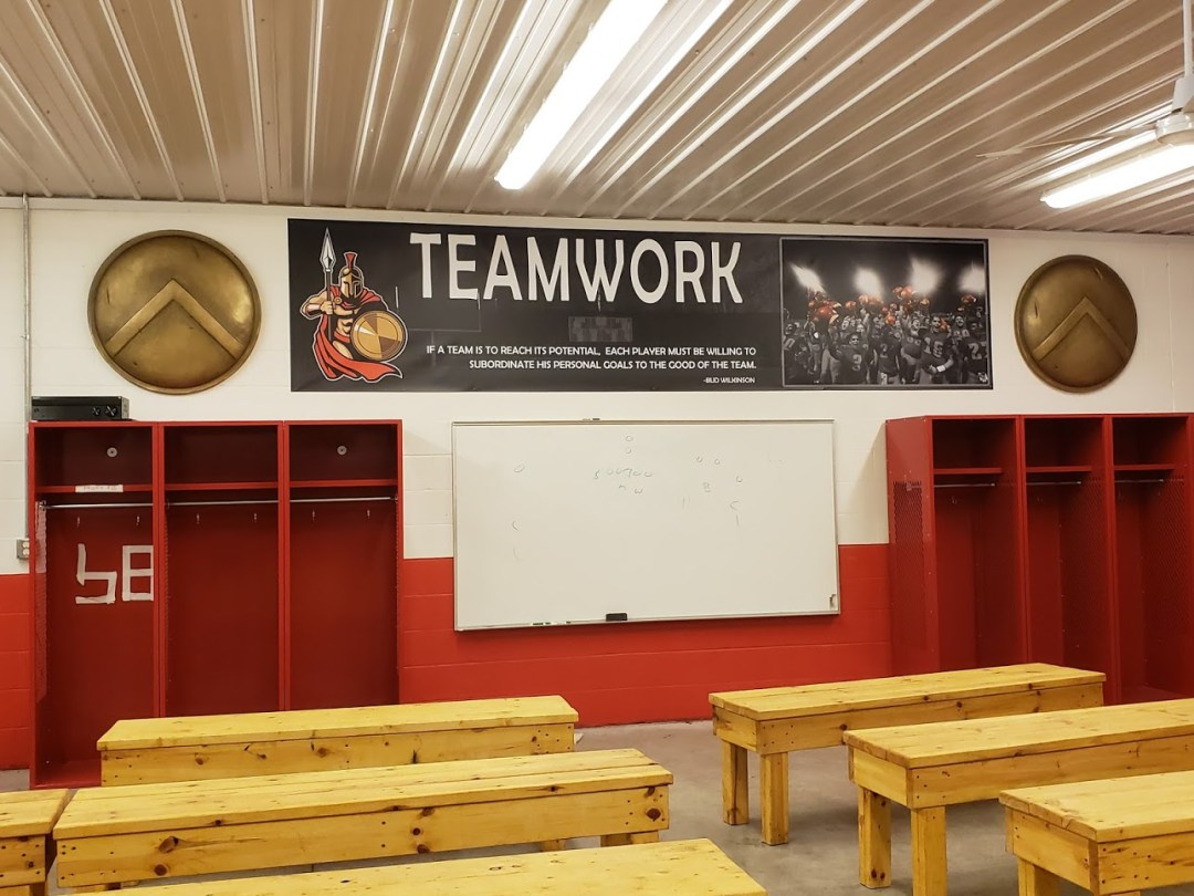 Sparta Grid Iron Club House Interior Decor - Teamwork Banner