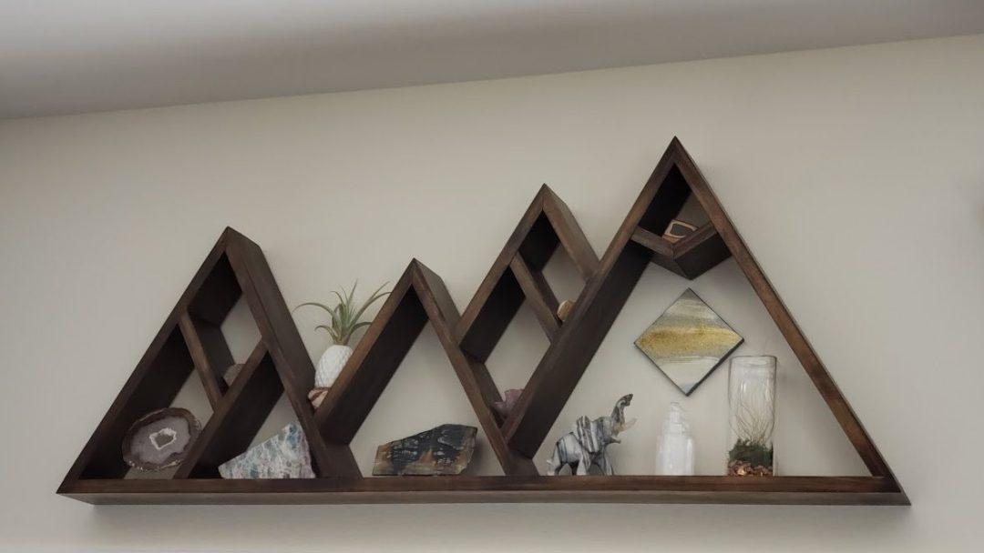 Interior Wall Decor - Custom Mountain Shadow Box Shelves