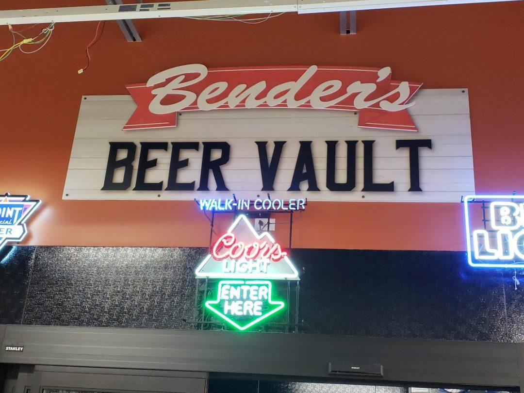 Bender's Grocery Interior Decor  - Beer Vault