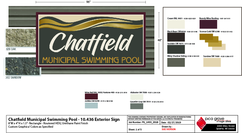 Graphic Design - Chatfield Municipal Swimming Pool - Pool Sign