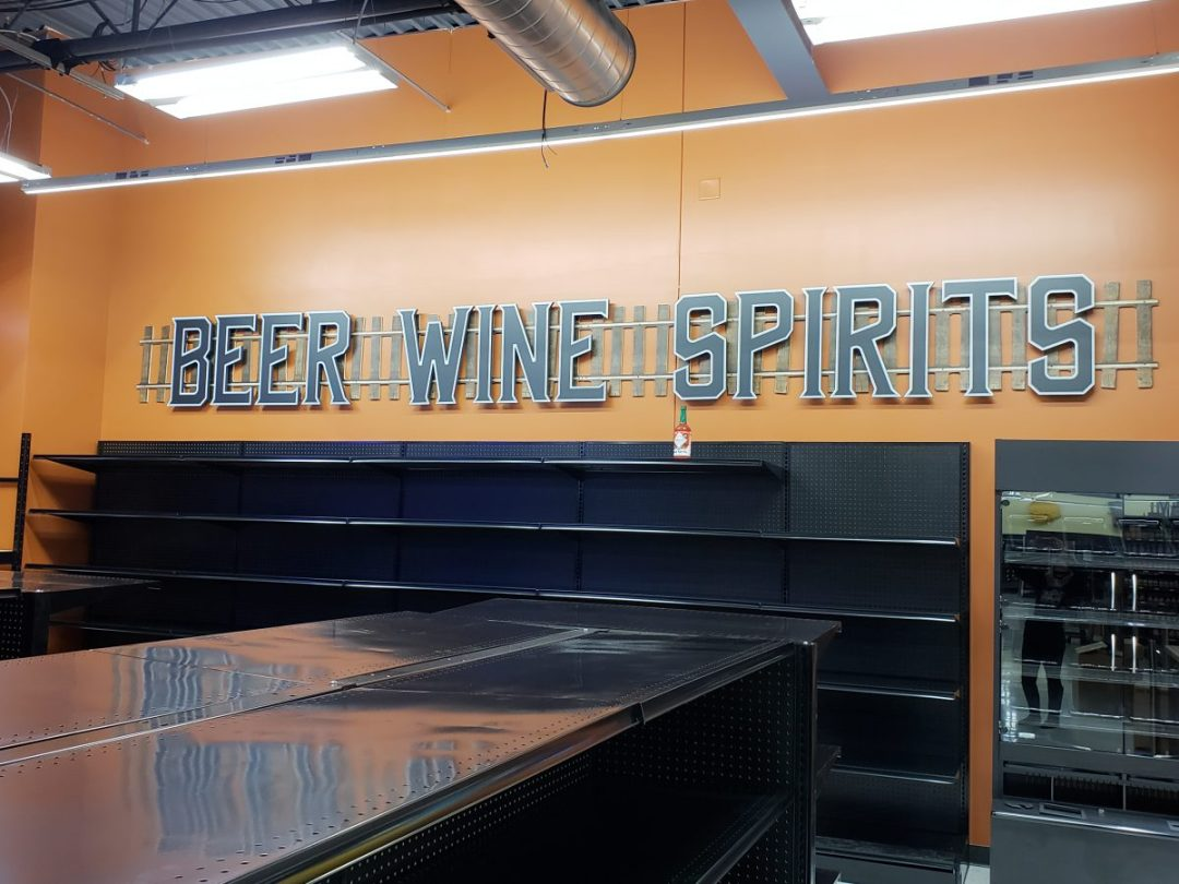 Bender's Grocery Interior Decor  - Beer, Wine & Spirirts