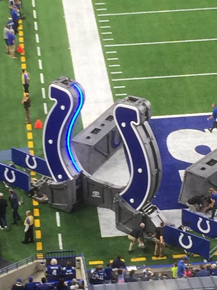 Foam Sculpting - Themed Props - Indianapolis Colts - Horseshoe Gate on Field