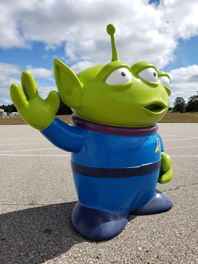 Alien Toy Story Foam Sculpture