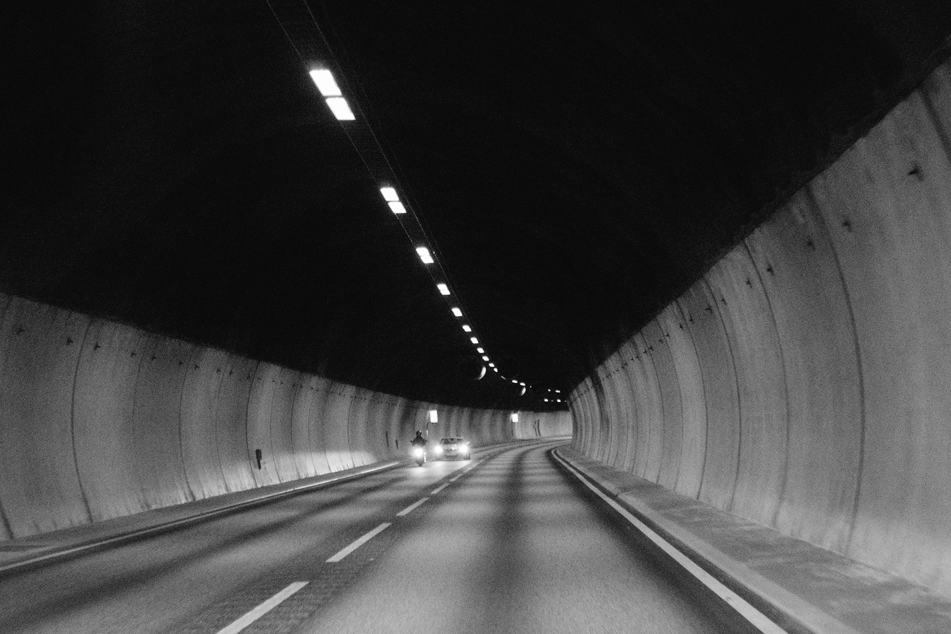 Tunel In Black And White By Jay Mantri