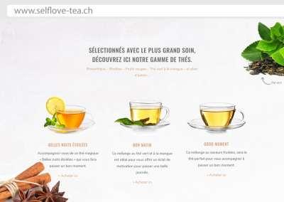 selflove-tea.ch – site Internet