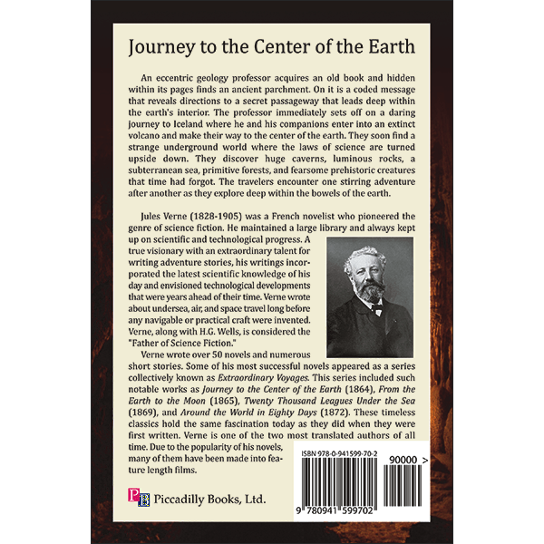 Journey to the Center Earth Back Cover