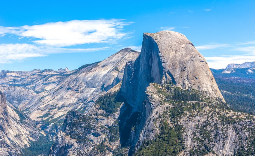 Glacier Point Half Dome Closeup