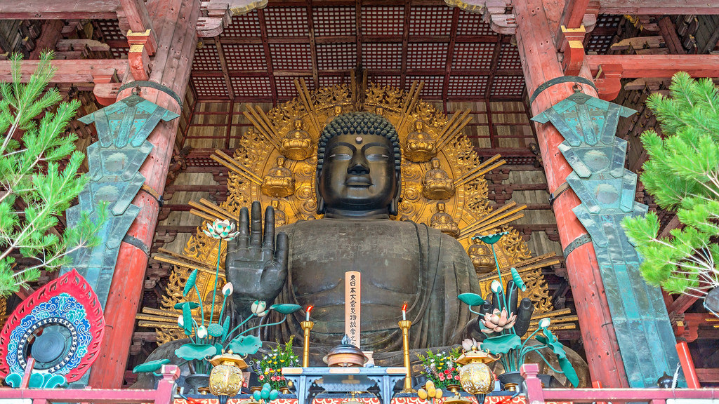 The Largest Bronze Buddha Statue in Japan