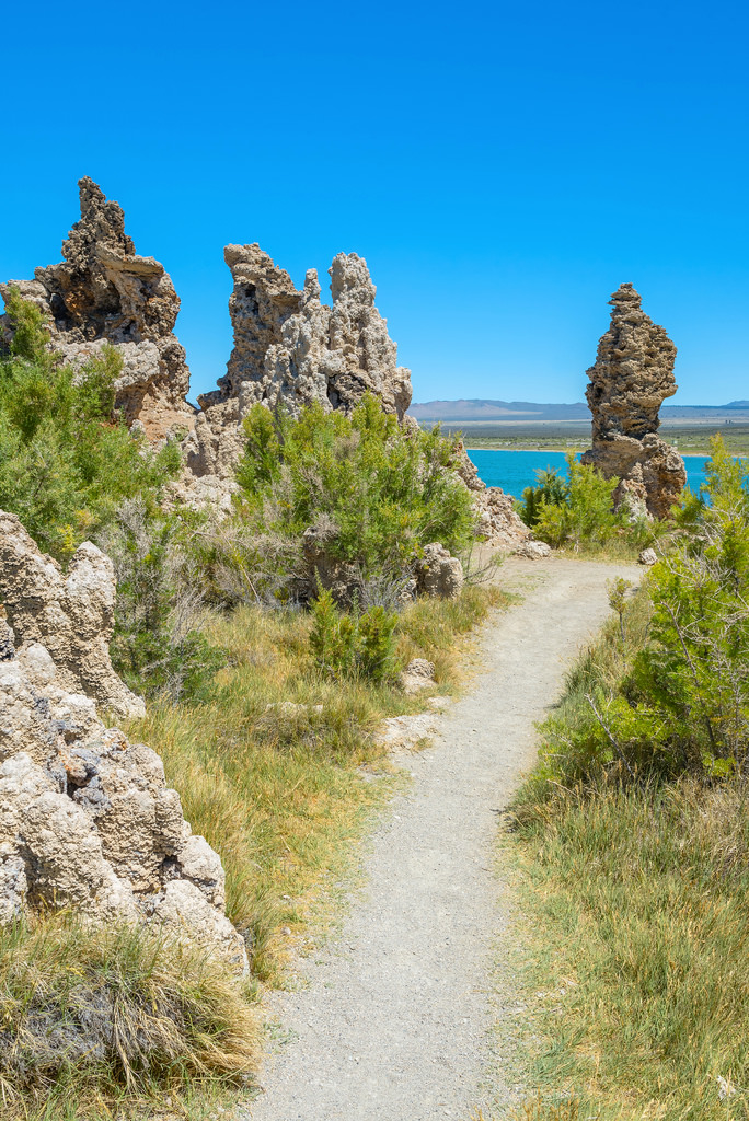 Pathway through Tufas to Mono Lake