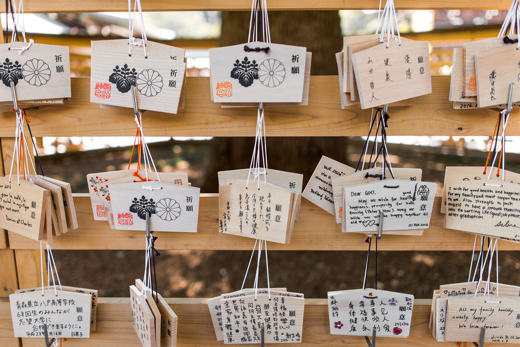 Meiji Shrine Wishes