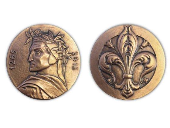 medaglia commemorativa dante alighieri coniata dalla picchiani e barlacchi