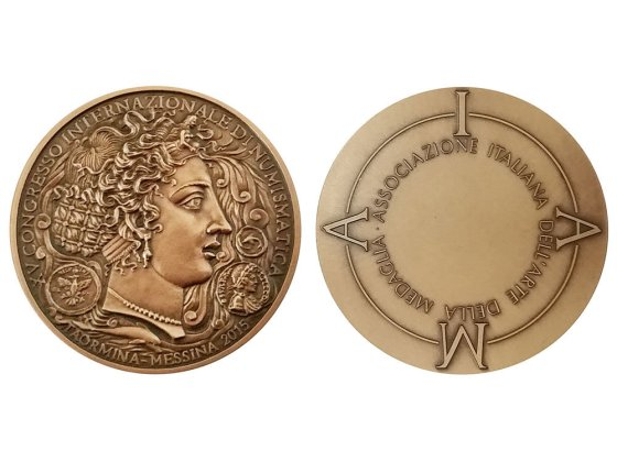 medaglia per il xv congresso di numismatica
