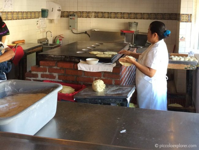 Handmade tortillas at The Old Town Mexican Cafe
