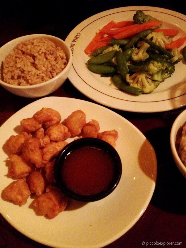Kid's Meal Honey Chicken and Baby's Buddha Feast at P.F. Changs Fashion Valley