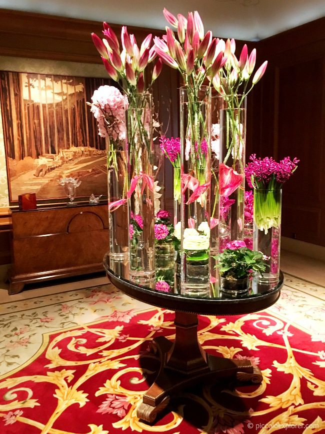 Flowers at the Reception area - Four Seasons Prague