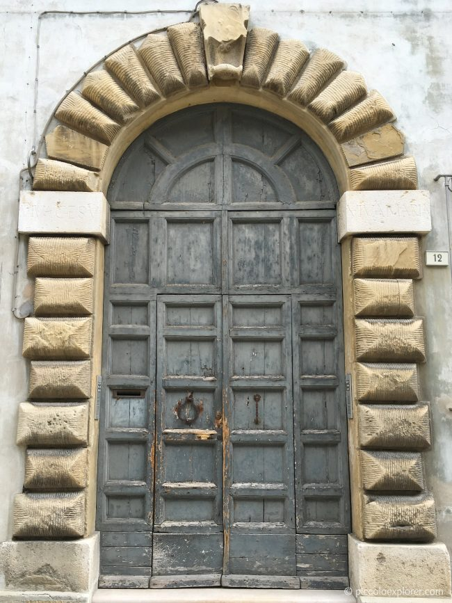 Door in Fano City Center Italy