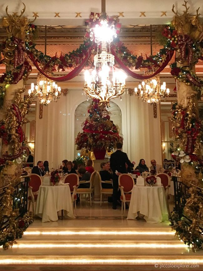 The Ritz at Christmas, London