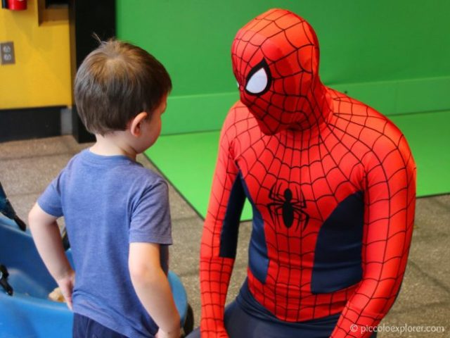 Meeting Spider-Man at Universal's Islands of Adventure, Orlando, Florida