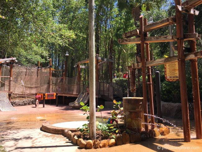 Water playground at Kidani Village Swimming Pool, Disney's Animal Kingdom Lodge, Orlando