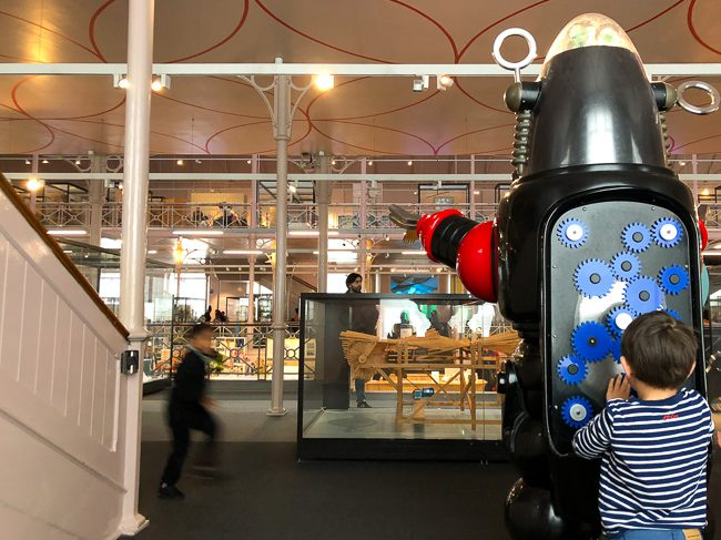 Interactive robot activity at V&A Museum of Childhood London