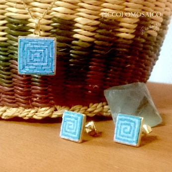 ABSTRACT earrings and pendant