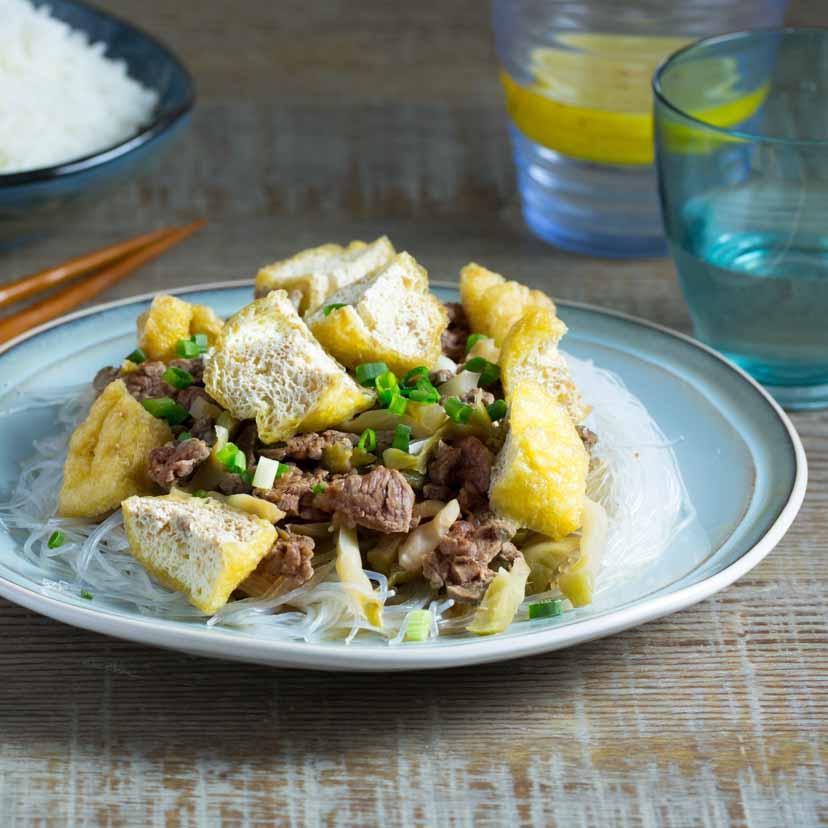 榨菜豆卜粉絲蒸牛肉