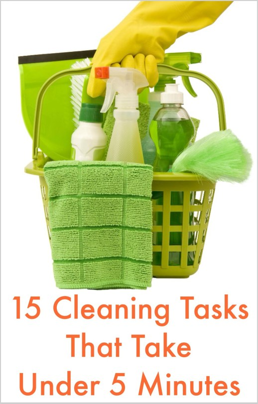 15 Cleaning Tasks That Take Under 5 Minutes
