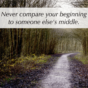 Feel Good Friday: Never Compare Your Beginning